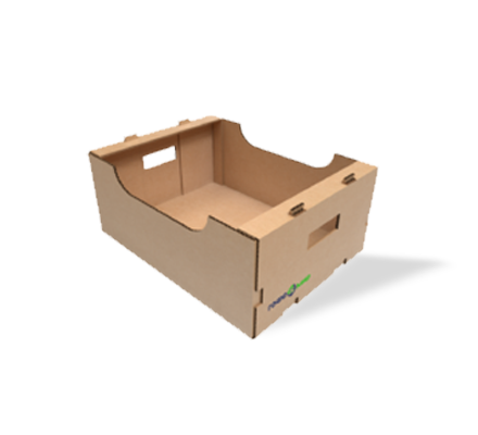 Boxes with handles for fruits and vegetables